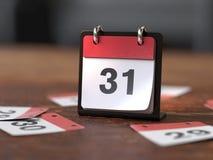 Pagine del calendario, concetto di tempo immagini stock