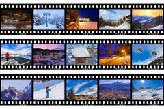 Pagine del film - immagini dell'Austria dello sci delle montagne Fotografie Stock