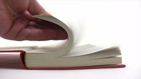 Pagine del libro di lettura rapida video d archivio