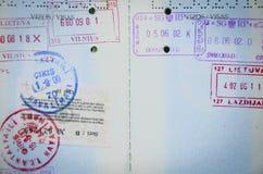Pagine del passaporto Immagine Stock