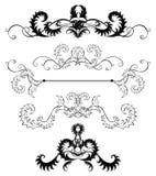Pagine della decorazione dei fogli stilizzati Fotografia Stock