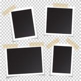 Pagine della foto con il perno dell'ombra su nastro appiccicoso realistico svuoti illustrazione di stock