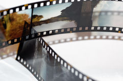 Pagine della pellicola della trasparenza Fotografia Stock