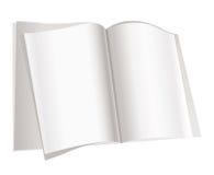 Pagine dello scomparto su priorità bassa bianca Fotografia Stock