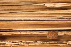 Pagine di carta dei vecchi libri Fotografia Stock Libera da Diritti