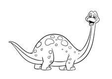 Pagine di coloritura del diplodocus del dinosauro Fotografia Stock Libera da Diritti