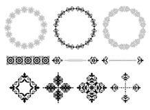 Pagine ed elementi dell'annata - vettore Illustrazione di Stock