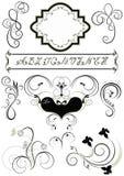 Pagine ed ornamenti calligrafici per il tatto delle pagine Fotografia Stock Libera da Diritti