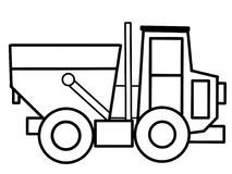 Pagine educative di coloritura del camion Immagine Stock Libera da Diritti
