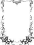 Pagine floreali in bianco e nero Fotografie Stock Libere da Diritti