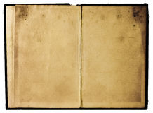 Pagine misere del libro Fotografia Stock