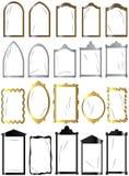 Pagine per le finestre, specchi, maschere Fotografia Stock Libera da Diritti