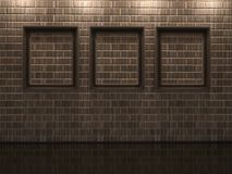Pagine su un muro di mattoni illustrazione di stock
