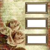 Pagine sulla priorità bassa del grunge di fascino con le rose Immagini Stock