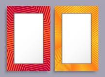 Pagine vuote due insegne di colore rosso e giallo illustrazione di stock