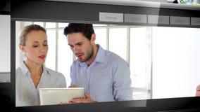 Pagine Web differenti che mostrano la gente di affari illustrazione vettoriale