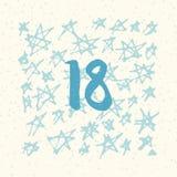 Paginez Advent Calendar pendant 25 jours de Noël avec l'espace pour le texte Image libre de droits
