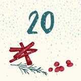 Paginez Advent Calendar pendant 25 jours de Noël avec l'espace pour le texte Photos libres de droits
