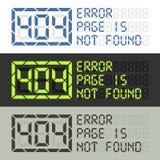 Paginez dans le message non trouvé de l'erreur 404 Image libre de droits