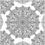 Paginez le modèle de coloration avec l'illustration d'isolement par mandala circulaire Image stock