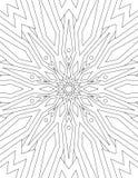 Paginez livre de coloriage pour le mandala d'adultes dessiné avec les lignes noires dessus Images stock