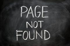 Paginez non trouvé images stock