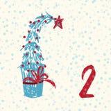 Paginieren Sie Advent Calendar 25 Tage Weihnachten mit Raum für Text Stockfotos