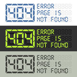 Paginieren Sie in nicht gefundener Mitteilung des Fehlers 404 Lizenzfreies Stockbild