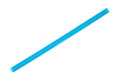 Paglia blu enorme del frappé del frullato Fotografie Stock Libere da Diritti