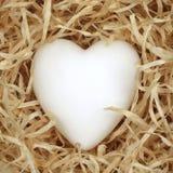 paglia del cuore Fotografia Stock