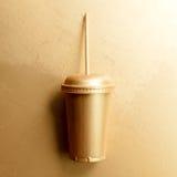 Paglia della tazza dell'oro Fotografie Stock Libere da Diritti