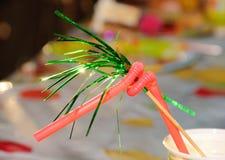 Paglia di celebrazione in cocktail Fotografie Stock