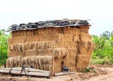 Paglia di Hay Shed Cluster fotografia stock