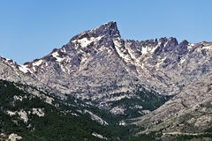 Paglia Orba峰顶和Golo谷 图库摄影