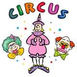 Pagliacci di circo. JPG ed ENV Fotografia Stock Libera da Diritti