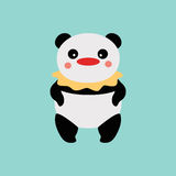 Pagliaccio del panda Fotografia Stock Libera da Diritti