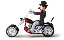 Pagliaccio di divertimento - illustrazione 3D Fotografia Stock