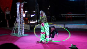 Pagliaccio di risata nel circo archivi video