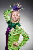 Pagliaccio divertente in colourful fotografia stock