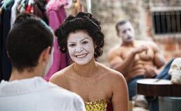 Pagliaccio felice di Cirque Fotografia Stock Libera da Diritti