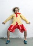 Pagliaccio pazzo Fotografie Stock