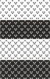 Pagliaccio Seamless Pattern Set Immagini Stock
