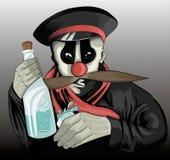 Pagliaccio ubriaco Fotografia Stock Libera da Diritti