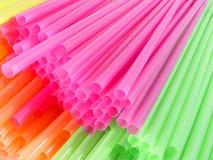 Paglie del cocktail di colore Fotografie Stock
