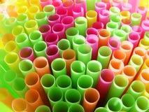 Paglie del cocktail di colore Immagine Stock Libera da Diritti