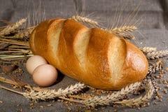 Pagnotta con le uova Fotografie Stock