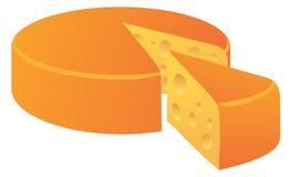 Pagnotta del formaggio isolata su bianco Fotografia Stock Libera da Diritti