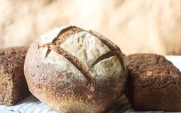 Pagnotta del pane rustico fresco dell'artigiano Fotografie Stock