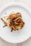 Pagnotta di carne di tacchino con le corde infornate della cipolla Fotografia Stock