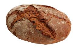 Pagnotta di pane isolata su bianco fotografia stock